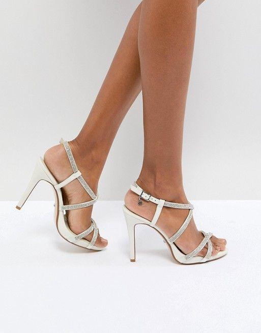 MANSIONN Strappy Jewelled High Heel Sandal silver | Dune London