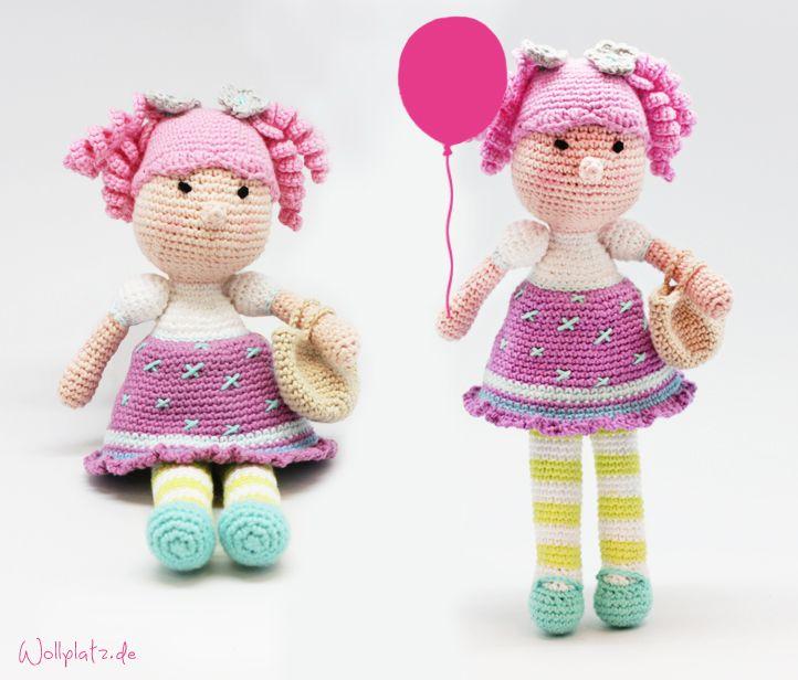 Puppe häkeln: Mädchen Saar | Puppe häkeln, Wollplatz und Puppe