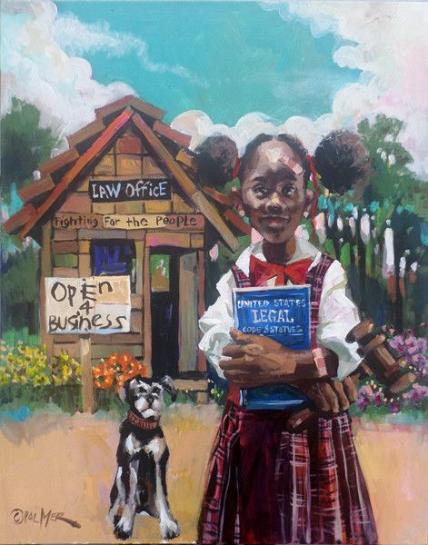 Open for Business African american women, American women and Africans - new certificate of authenticity painting