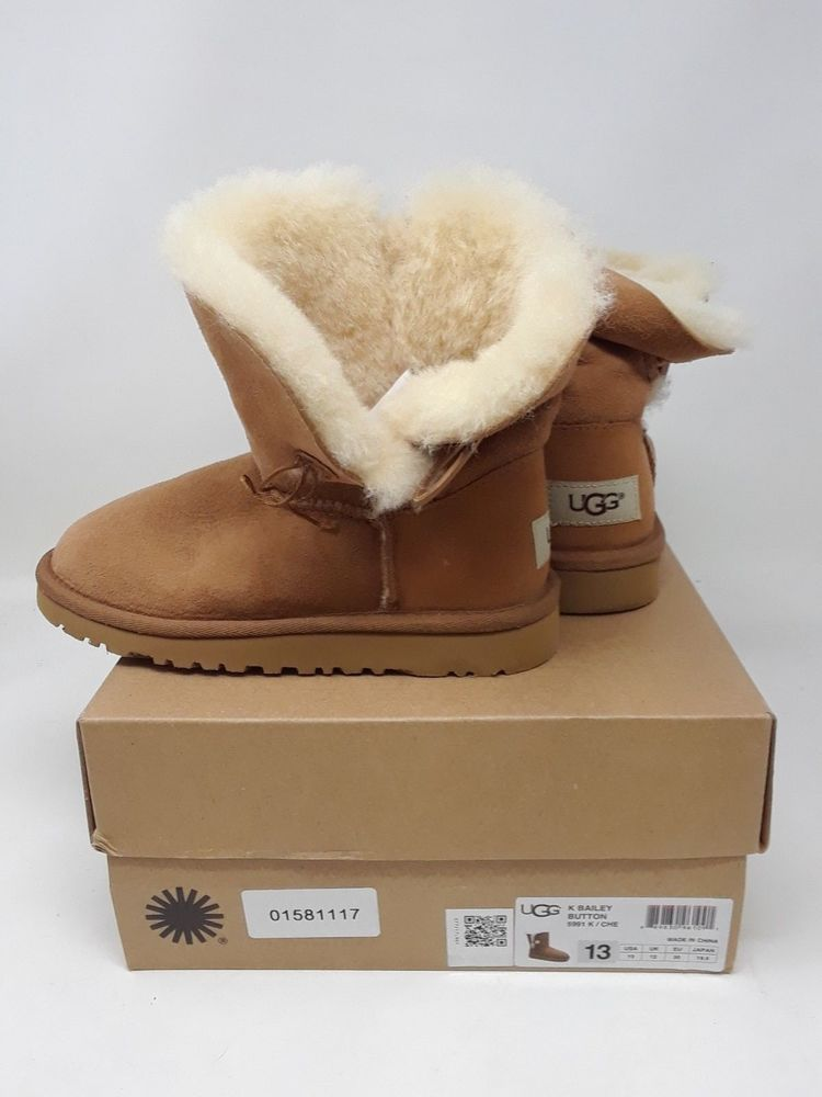 98030ea38c2 eBay #Sponsored New! Toddler Girls UGG Australia Bailey Button SZ 13 ...