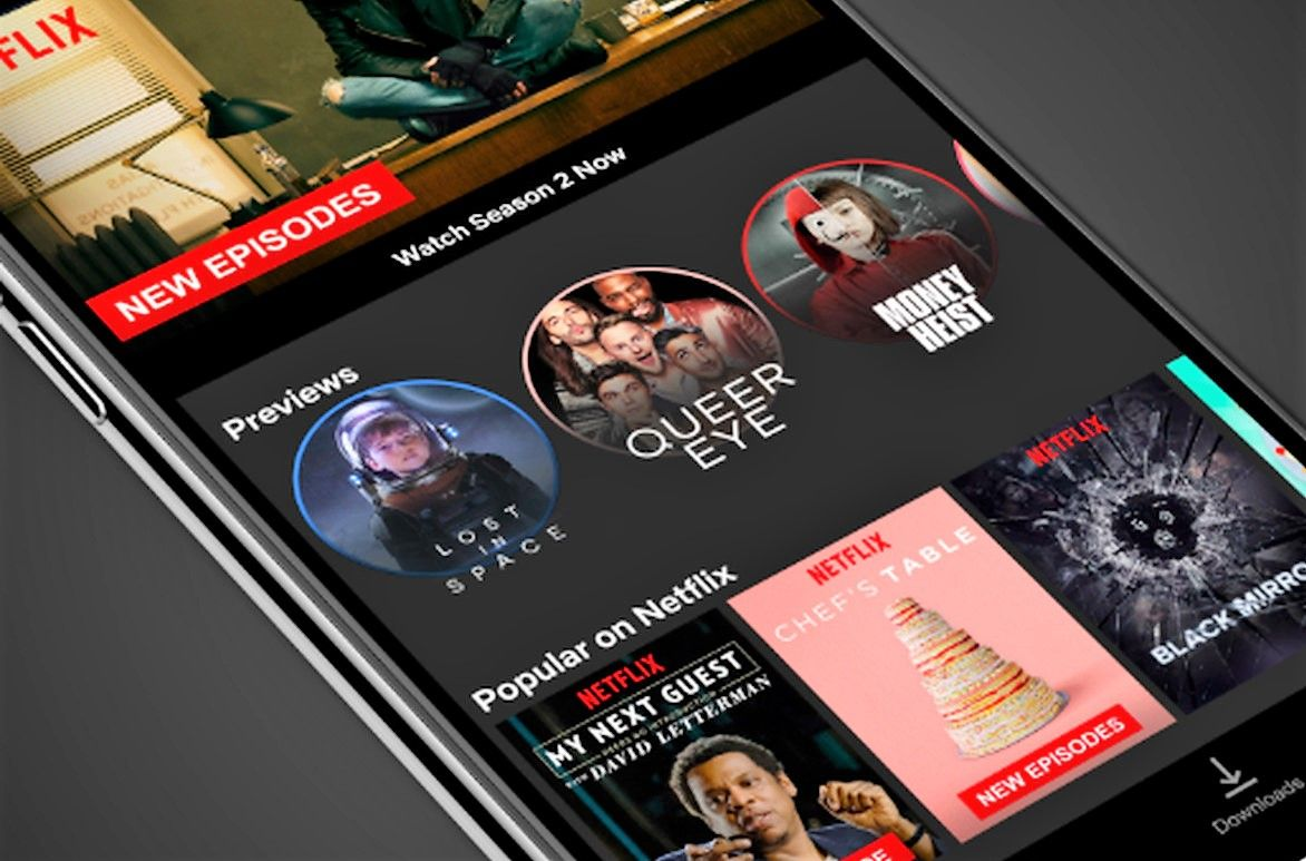 Netflix Stories 30 second video previews in mobile