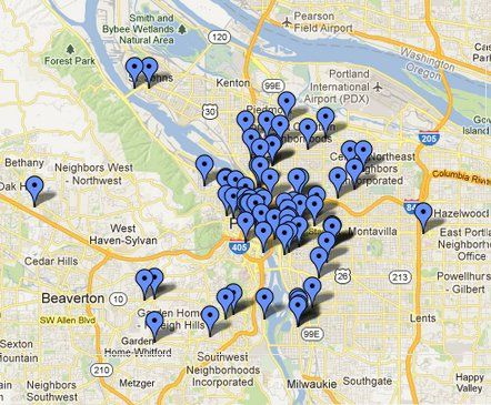 Portland Brewery Map beer map (aka: interactive map of all the breweries in Portland