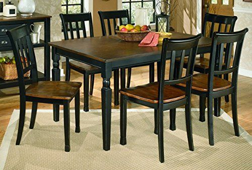 Signature Design By Ashley D58025 Owingsville Collection Dining Room Table Blackbrown Rectangular Dining Room Table Casual Dining Rooms Dining Room Server