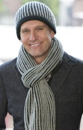 Striped Warmth Hat Scarf Free Knitting Pattern From Red Heart
