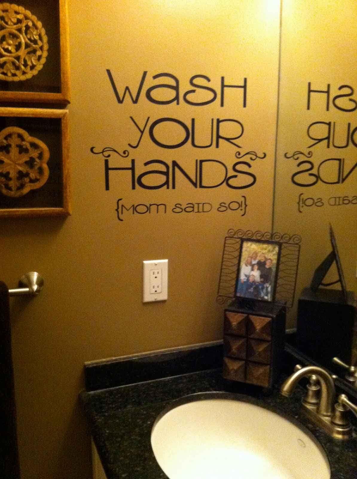 Amazing fun home accessories on sink bathroom cricut