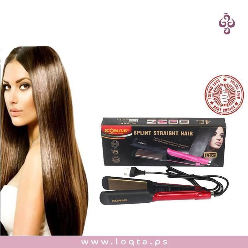 فير لتصفيف الشعر Sonar Sn 826 لجميع أنواع الشعر درجة حرارة عالية كفاءة وجود جهاز فرد الشعر يعمل على تمليس الشعر يمكن التحكم ف Hair Hair Straightener Beauty