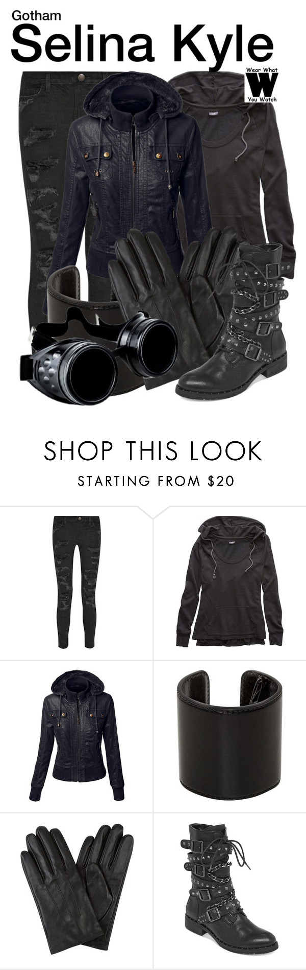 """Gotham"" by wearwhatyouwatch ❤ liked on Polyvore featuring Current/Elliott, Aerie, Ann Demeulemeester, BCBGeneration, television and wearwhatyouwatch"