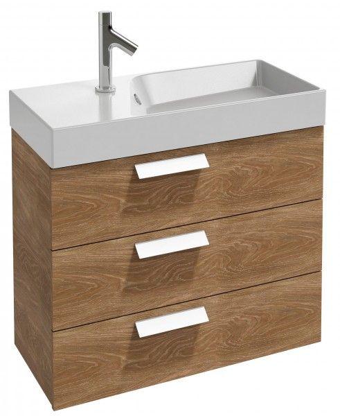 Meuble sous plan-vasque compact 80 cm, 3 tiroirs Jacob Delafon