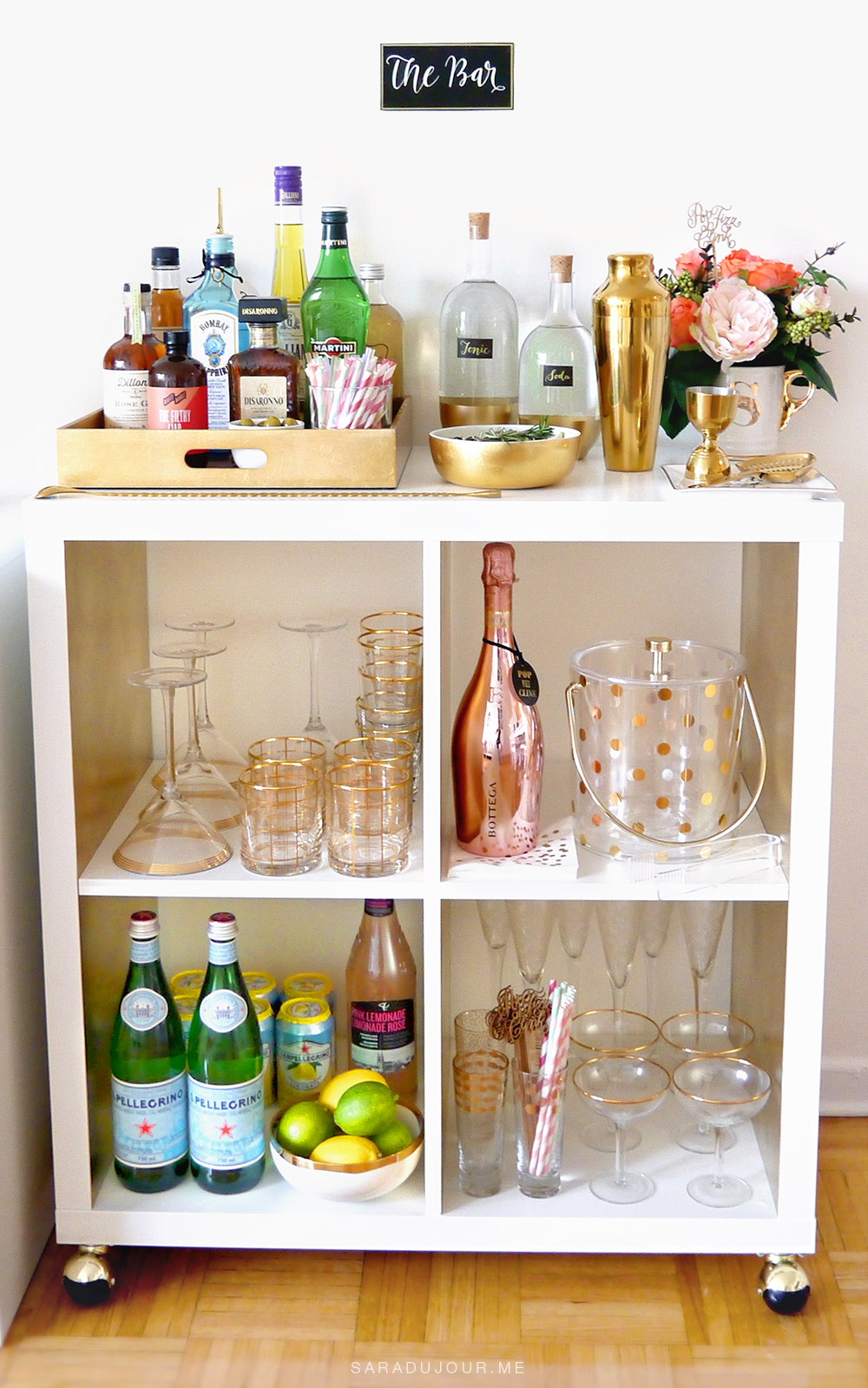 Bar Cart Essentials { Home Bar Haul } • Sara du Jour | Home ...