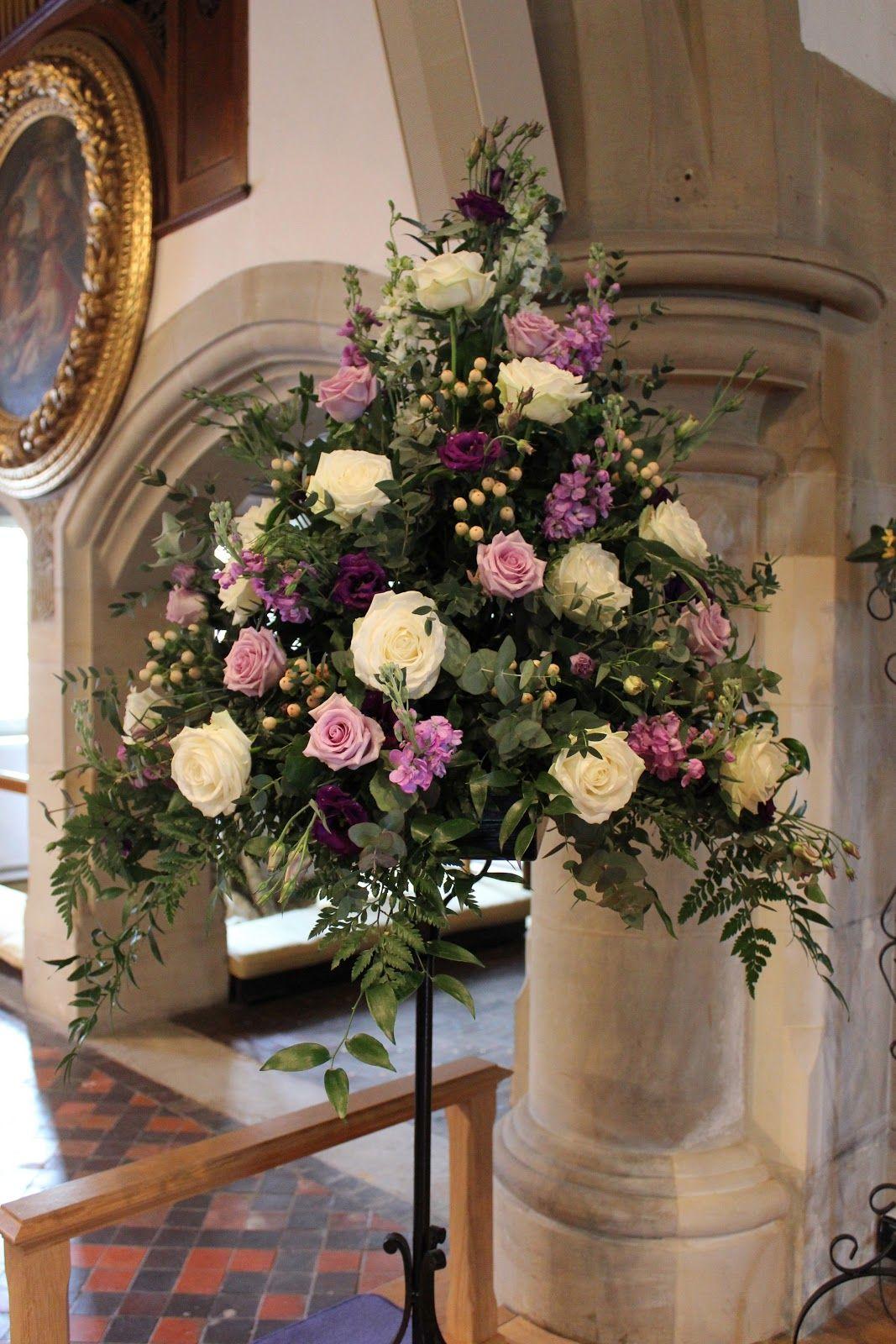 Church Flower Arrangements Pedestal
