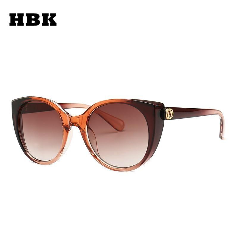 Hbk Unisex Fashion Cateye Sunglasses 2019 New Trendy Cat Eye K32362