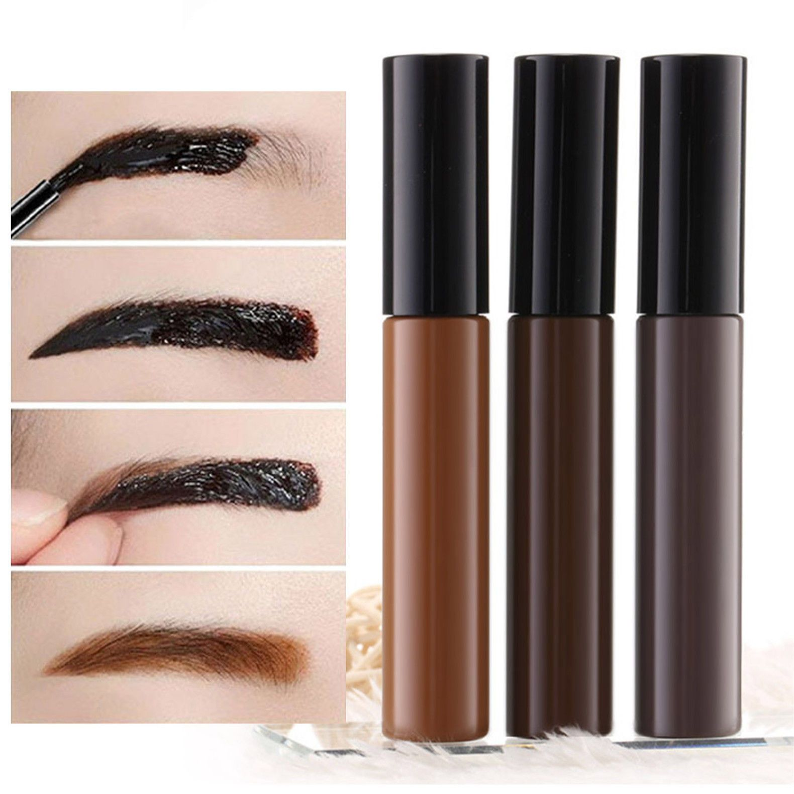 Peel Off Makeup Eyebrow Tattoo Crayon Waterproof Eye Brow Henna Tint