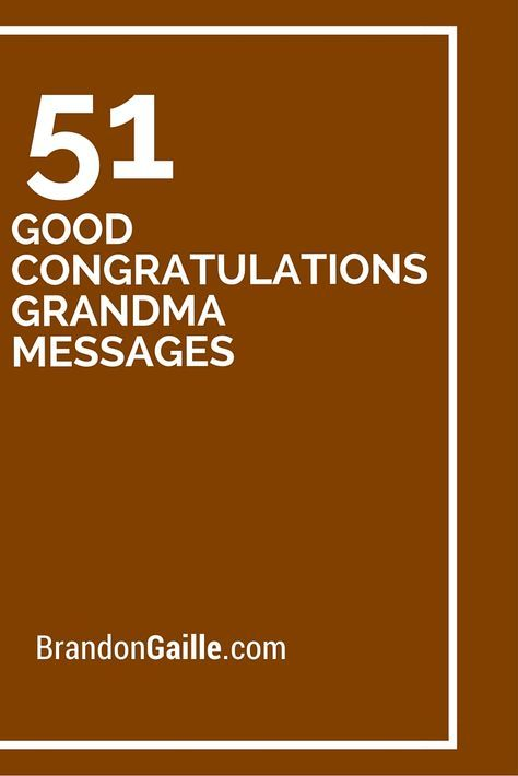 53 Good Congratulations Grandma Messages Writing Speaking