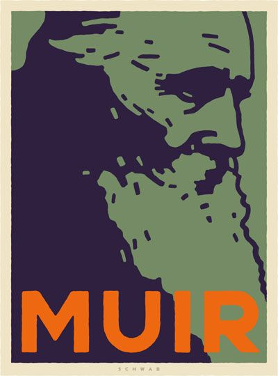 John Muir | Illustration by Michael Schwab | Sierra Magazine ...
