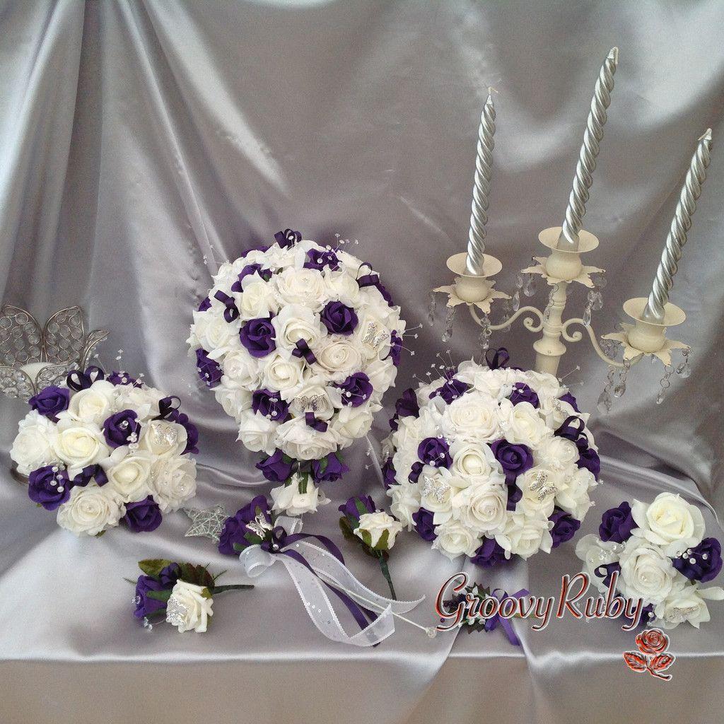 Cadbury Purple, Bouquet, Wedding Ideas, Artificial Wedding Flowers, Bride, Bridesmaid