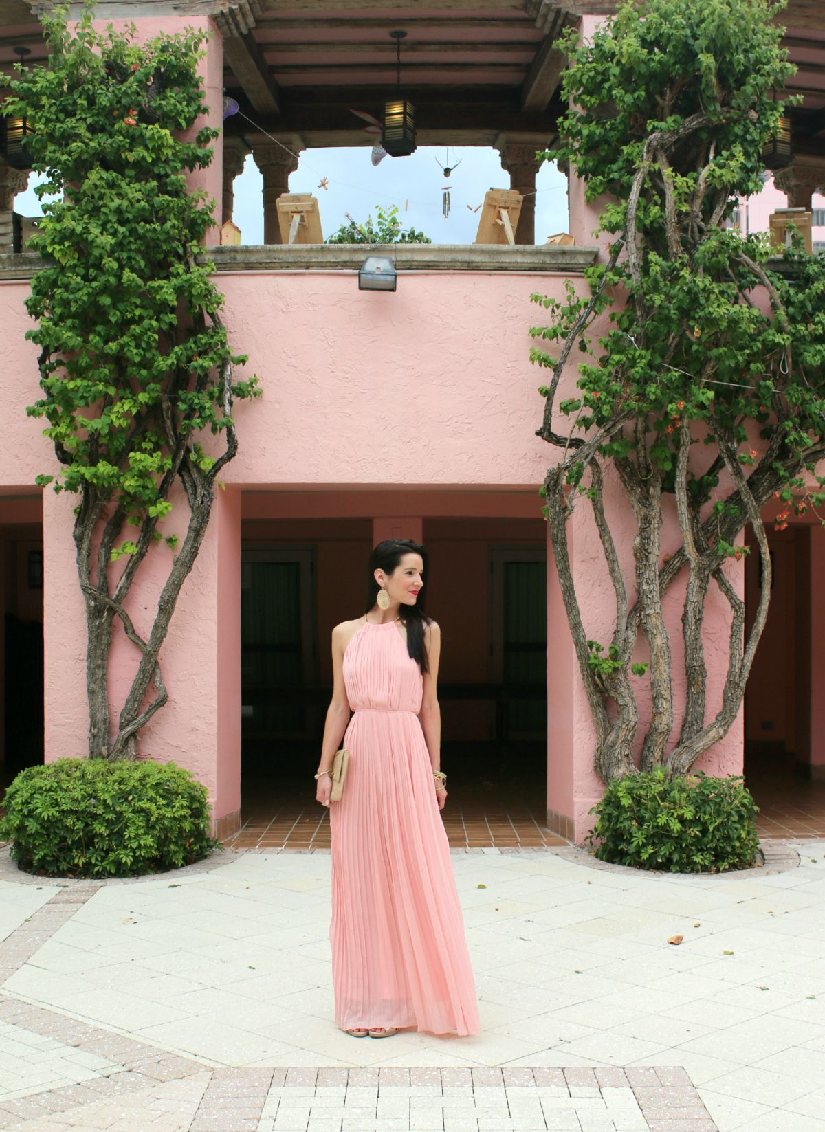 SheInside Pink Pleated Maxi Dress in Boca Raton | Casa campo y Campo