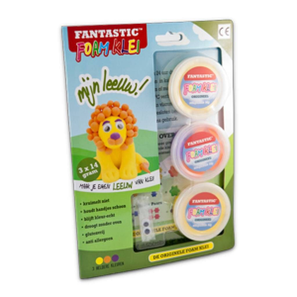 Make your own Lion with Foam Klei!!  It  is clean, safe and glutenfree. Stapjesvooruit.nl