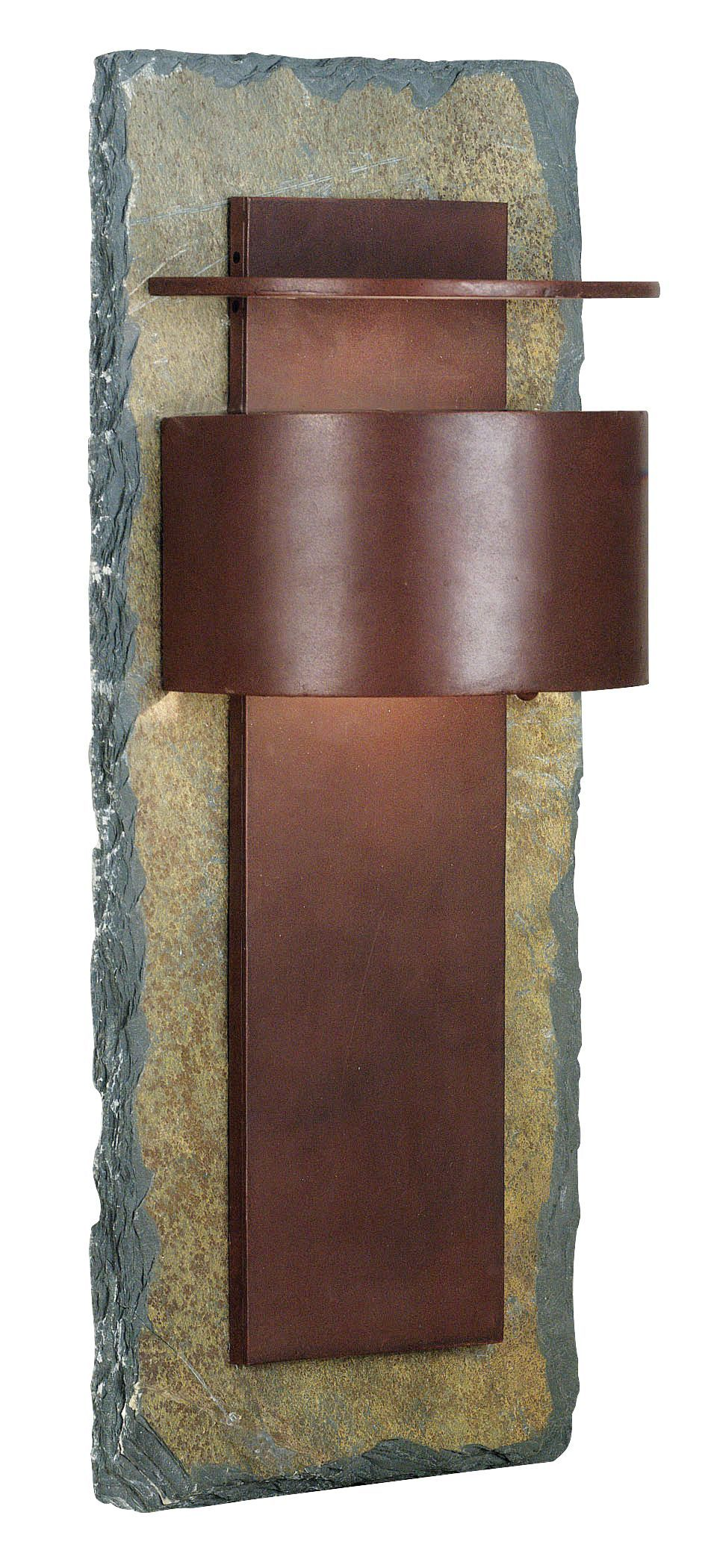 Kembra Slate Copper Modern 24 Inch H Outdoor Wall Sconce