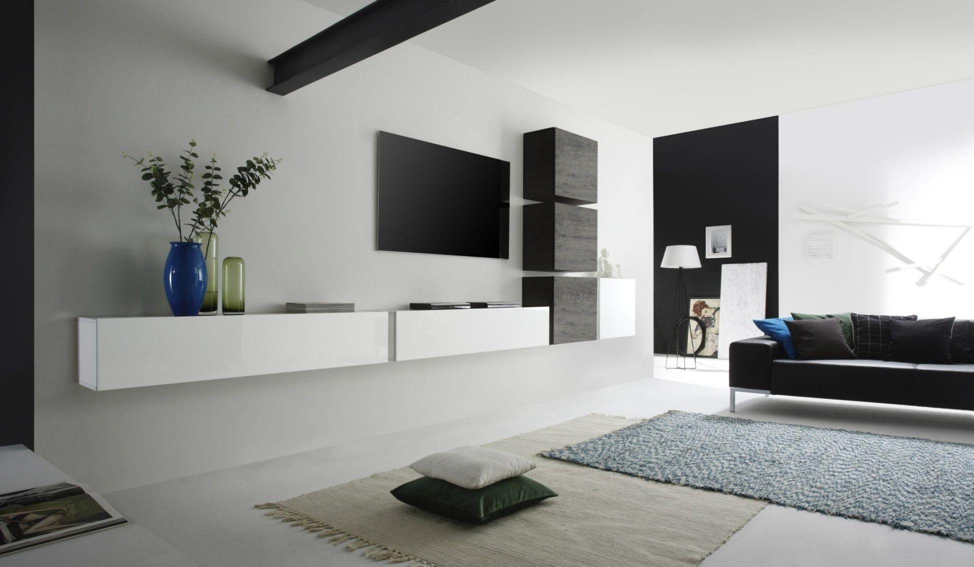 Luxus wohnwand modern design wohnzimmer ideen pinterest