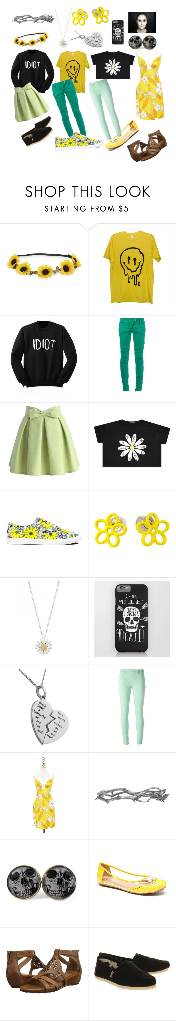 """Undertale: Flowey"" by notasupervillian ❤ liked on Polyvore featuring moda, Aéropostale, Balmain, Chicwish, BucketFeet, Marc by Marc Jacobs, Daisy Jewellery, Blumarine, Pearls Before Swine e Söfft"