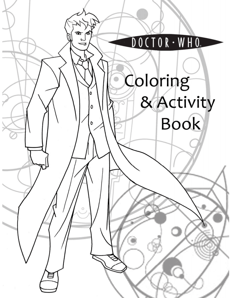 Doctor who coloring pages totally worth the ink i donut watch dr