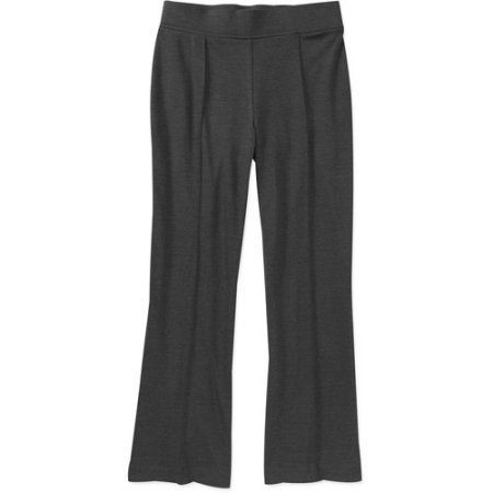 George Career Essentials Women's Pull On Bootcut Ponte Pants, Petite, Black