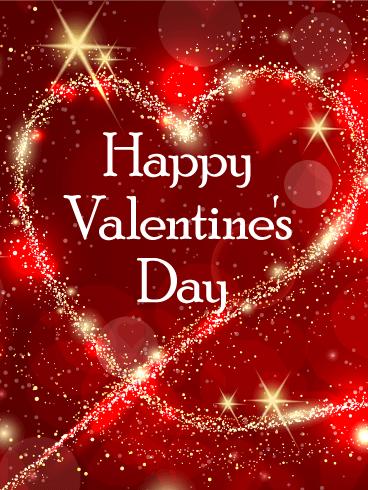 Sparkling Heart Happy Valentine S Day Card Birthday Greeting Cards By Davia Happy Valentine Images Happy Valentines Day Gif Happy Valentines Day Wishes
