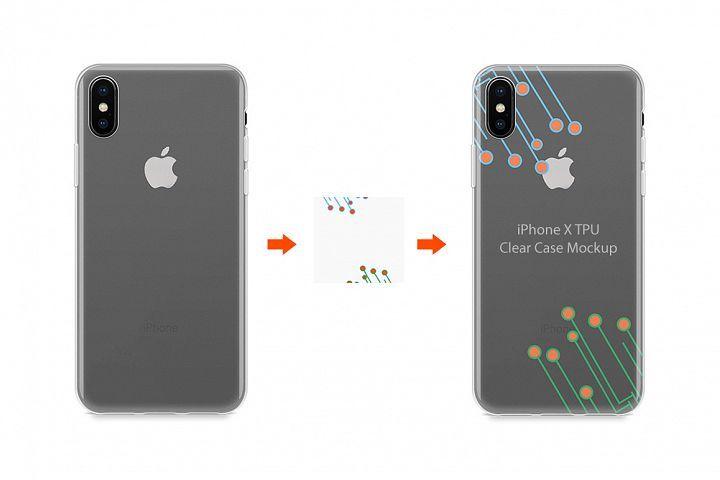Download Iphone X Tpu Clear Case Mockup Back View 38942 Mockups Design Bundles Clear Cases Iphone Case
