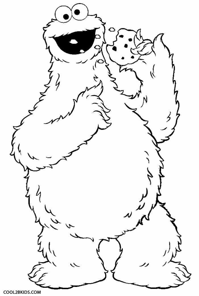 Printable Cookie Monster Coloring Pages For Kids Cool2bkids Monster Coloring Pages Sesame Street Coloring Pages Monster Cookies