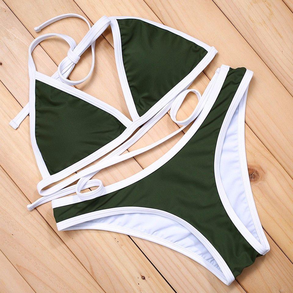 biggest selection novel style shopping Miranda Bikini Set - Olive Green | Products | Bathing suits ...