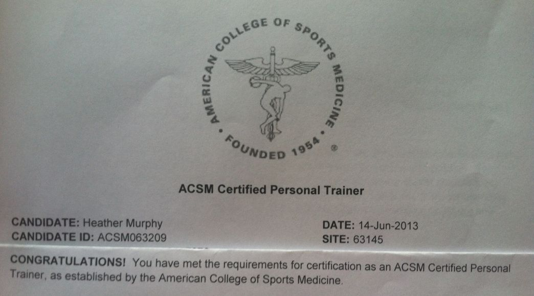 How I passed my ACSM Certified Personal Training Certification Exam ...