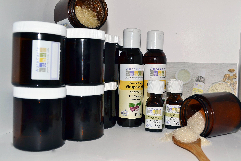 SUGAR Foot Scrub Tea Tree & Tangerine Diy Gift DIY Favors Fair Trade Organic Cane Sugar Pure Essential Oil Bridesmaid Gift 16 Person DIY Kit by 2YourHealthLLC on Etsy