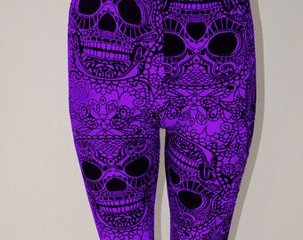 SALE Womens Black White Skull day of the dead dia by VixenObscure