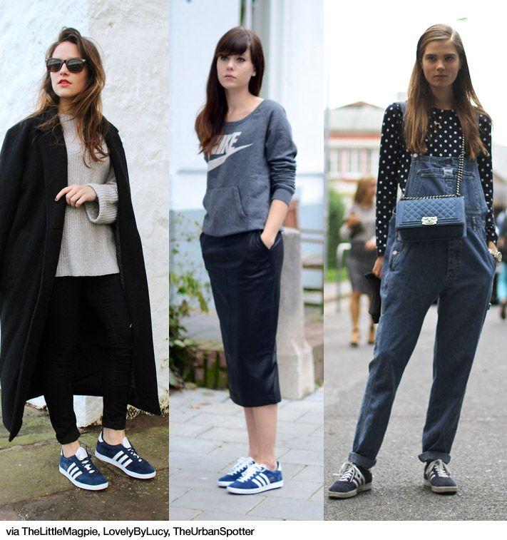 b65f90147fc 3x1: Adidas Gazelle Blue Adidas, Adidas Samba, Fashion Outfits, Womens  Fashion,