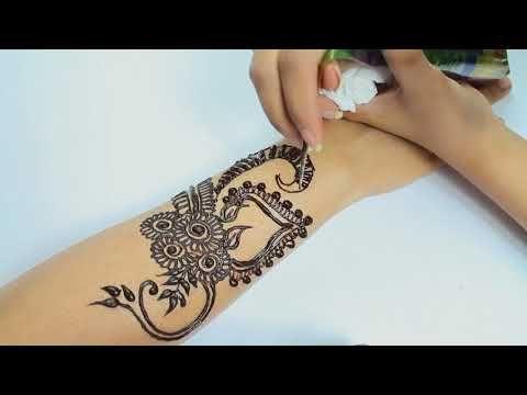 Arabic Mehndi Patterns S : Stylish full hand floral arabic mehndi design unique