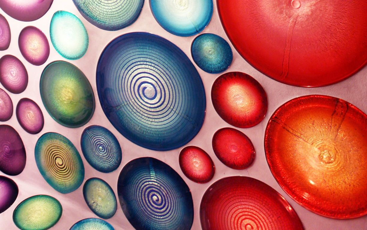 Custom glass bathroom tiles glass loveliness glass - Chihuly garden and glass groupon ...