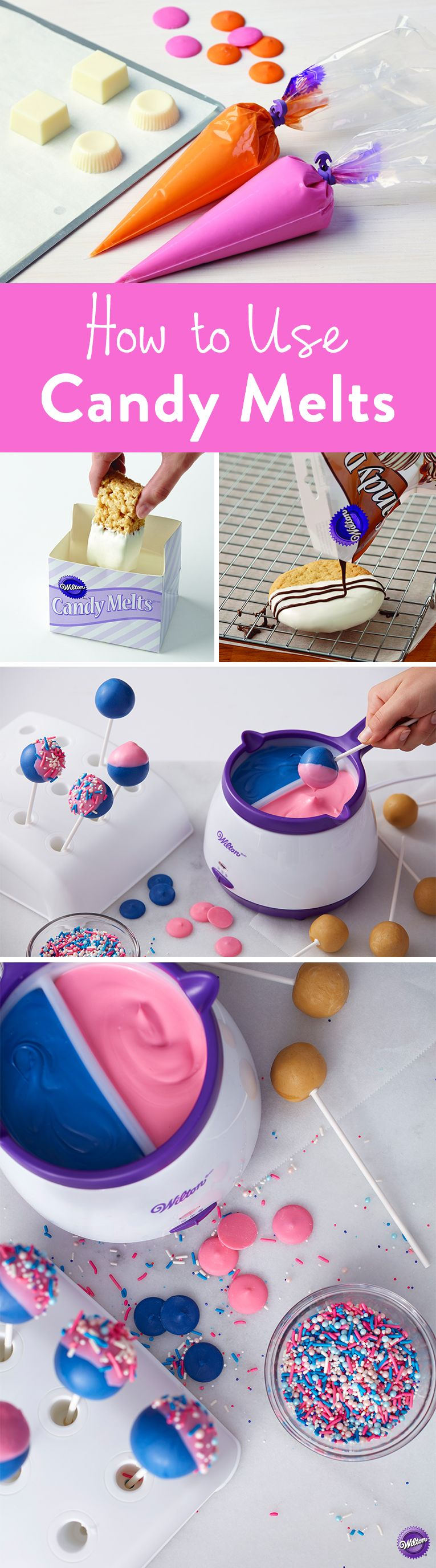 How To Use Candy Melts Candy The Wilton Blog Pinterest Wilton
