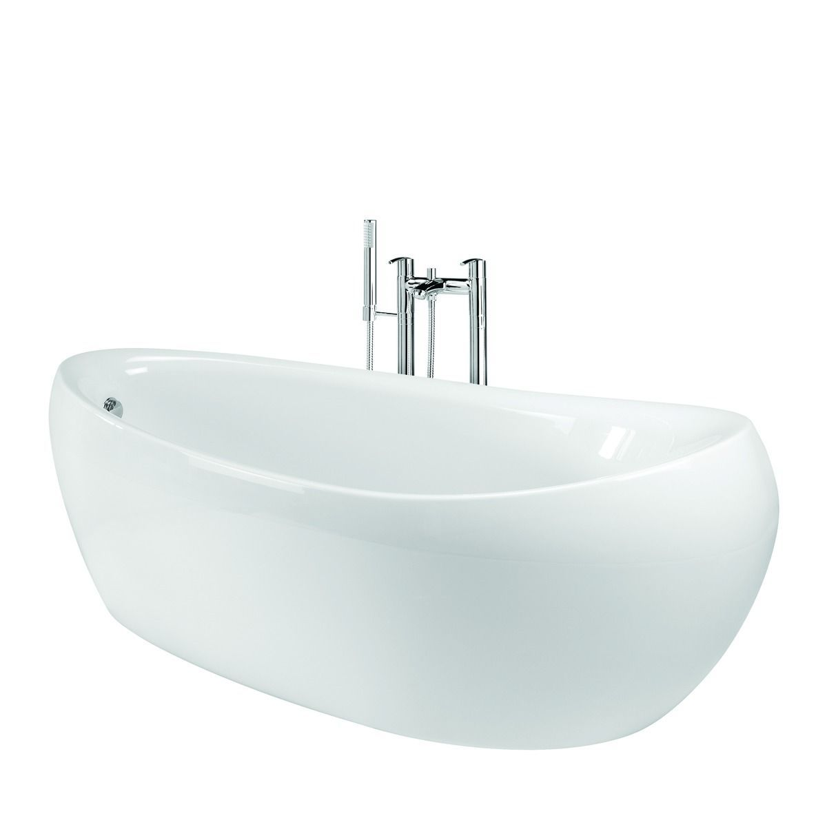 Wickes Cocoon Freestanding Bath White 1750mm | Wickes.co.uk ...