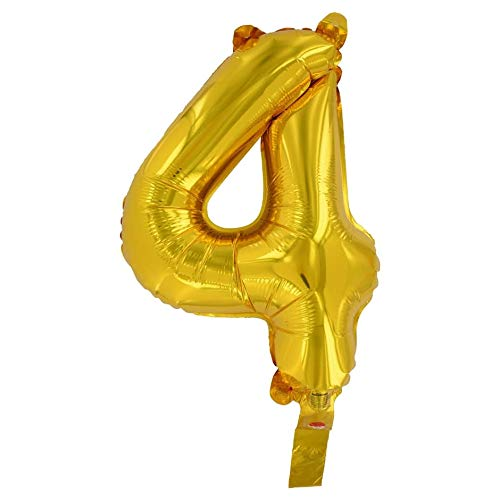 Amazon Com Ds001 14 Goil Foil Air Filled Balloon Birthday Number Four 4 Home Kitchen Foil Number Balloons Balloons Number Balloons