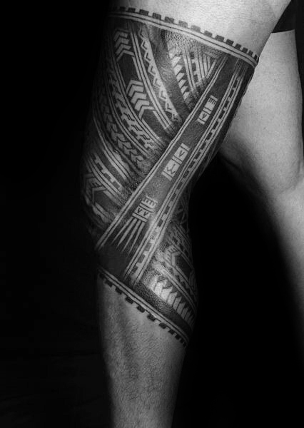 30 Tribal Thigh Tattoos For Men - Manly Ink Ideas