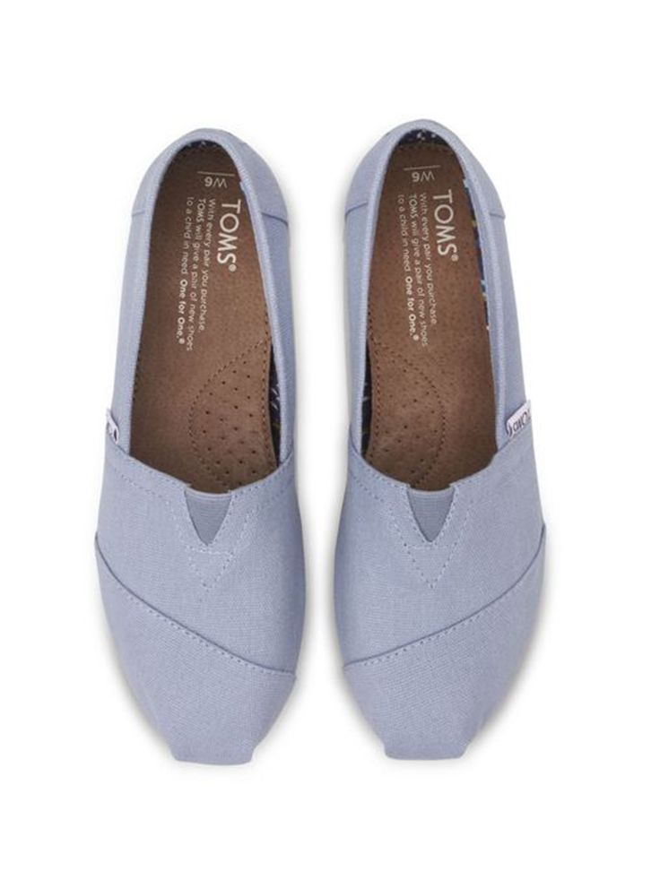 86287687319 TOMS women s Blue Canvas Classics - this shade would be perfect for a bridesmaid  shoe!  TOMSwedding