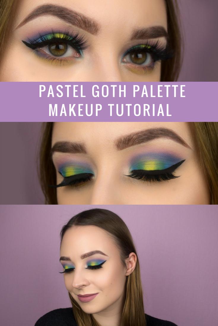 Kat Von D Pastel Goth Palette Makeup Tutorial Pastel Goth