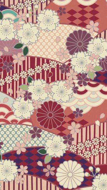 壁紙 待受 和柄 和風 四季 和風和柄日本的なスマホ壁紙