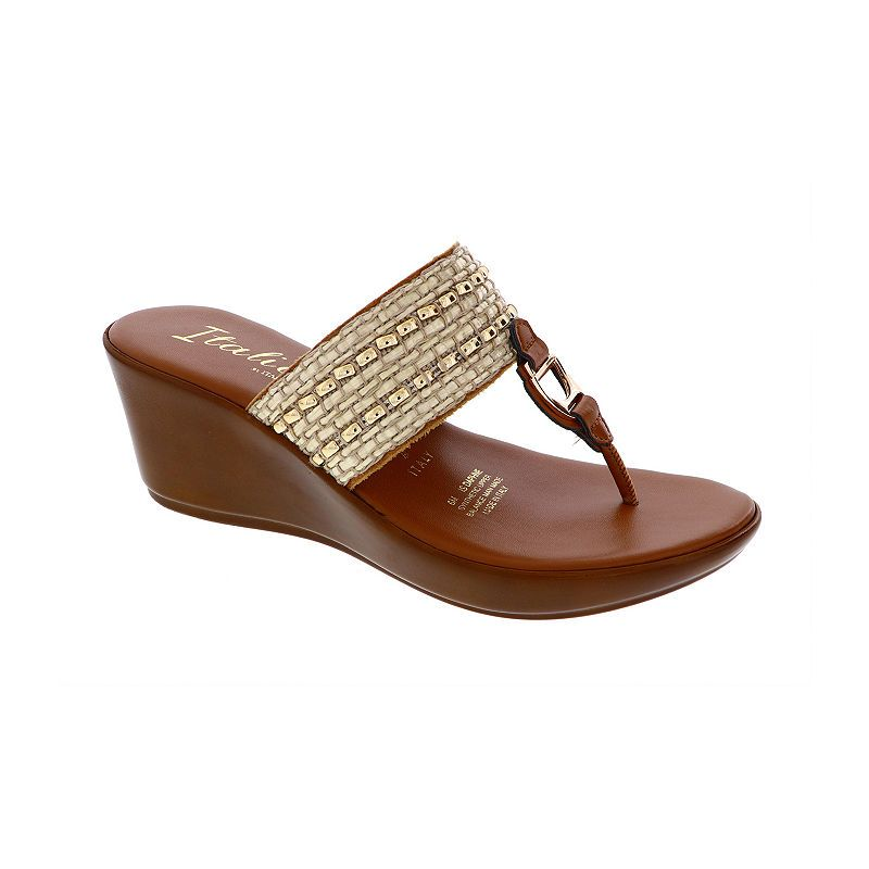 df4c1d16471 Italiana By Italian Shoemakers Womens Maddie Wedge Sandals in 2019 ...