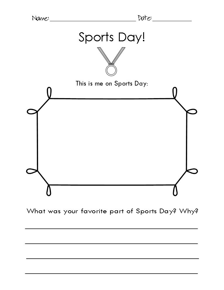 free sports day worksheet and field day worksheet let your kindergarten first grade second. Black Bedroom Furniture Sets. Home Design Ideas