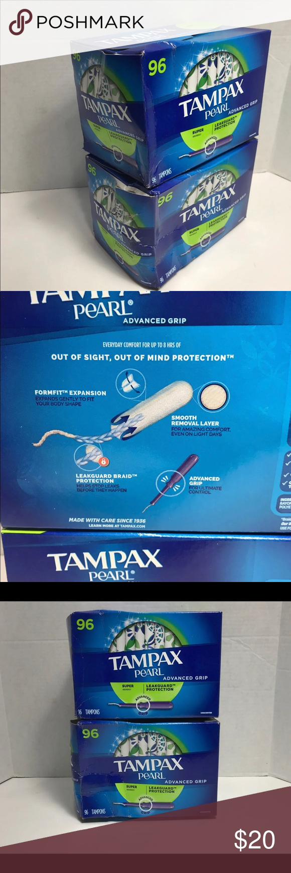 Tampax Pearl 192ct Super Absorbency Tampons Box Is Damaged And Distressed All Are Individually Sealed And Accounted For Price Firm Tampax Pearl Tampax Pearls