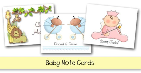 Baby Note Cards and Thank You Notes at TheInvitationShop Kids