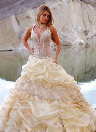 Sexy Corset Beach Wedding Dresses