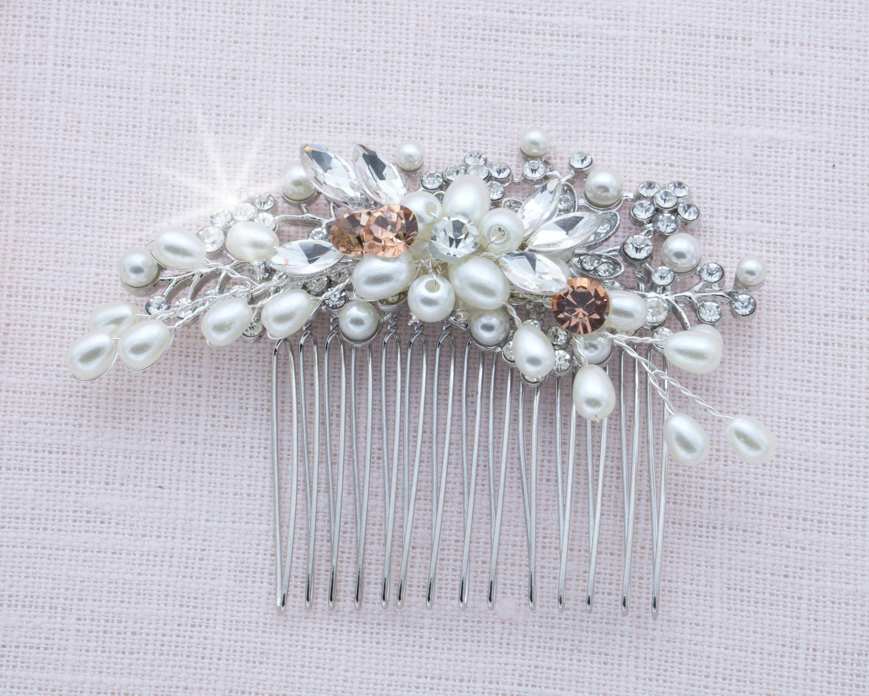Stunning Crystal Bridal Comb Repurposed Vintage Hair Accessory