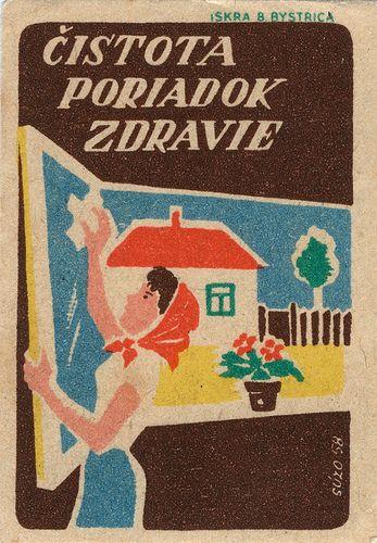 Czechoslovakian Matchbox Label Grafika Lata 60 Te Grafika